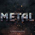 Metal Text Style Mockup
