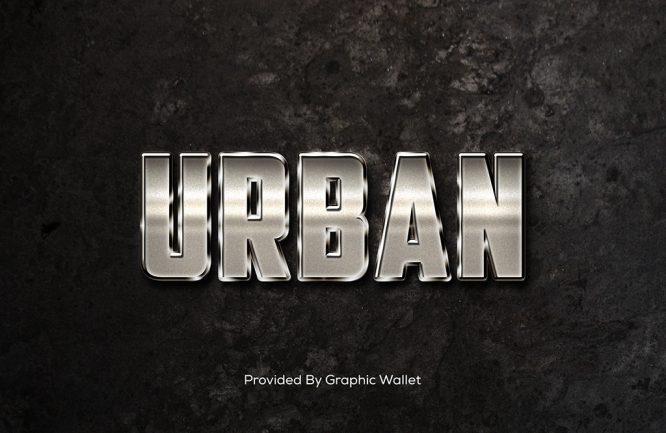 Shiny Metal Text Effect – URBAN