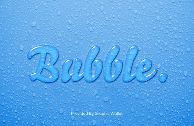 Water Text Effect – Bubble