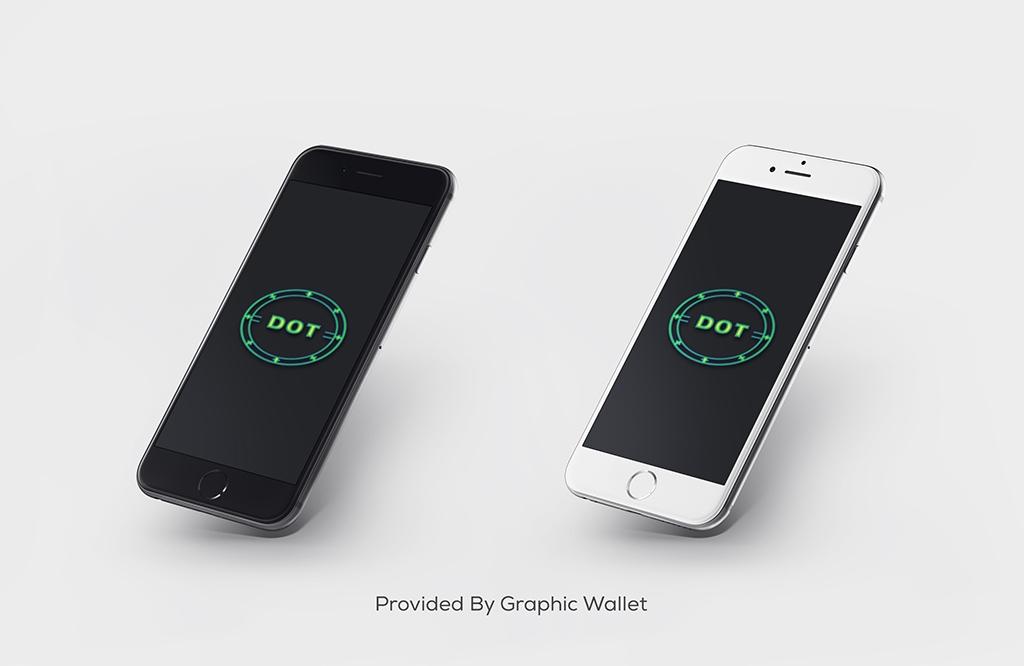 iPhone 6 Gray & White PSD Mockup – DOT