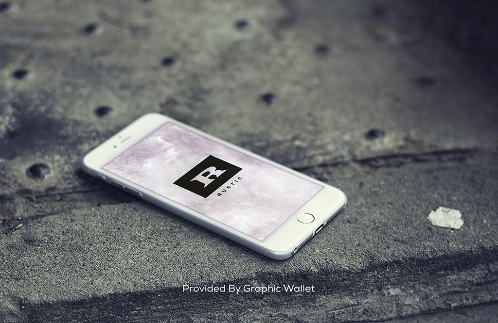 iPhone 6 PSD Mockup – RUSTIC