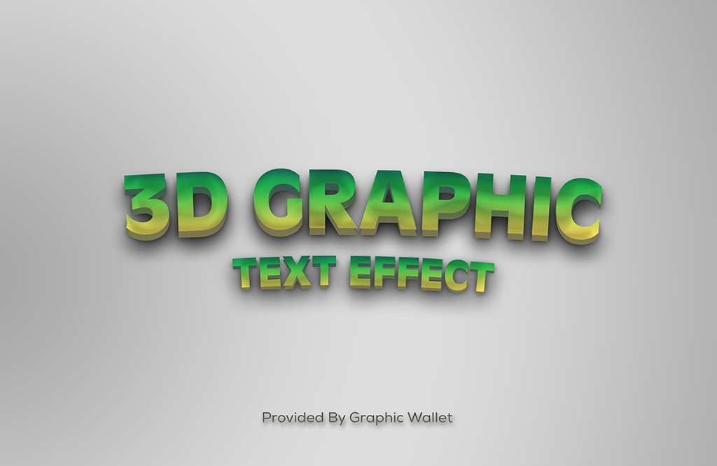 3D Graphic PSD Text Effect