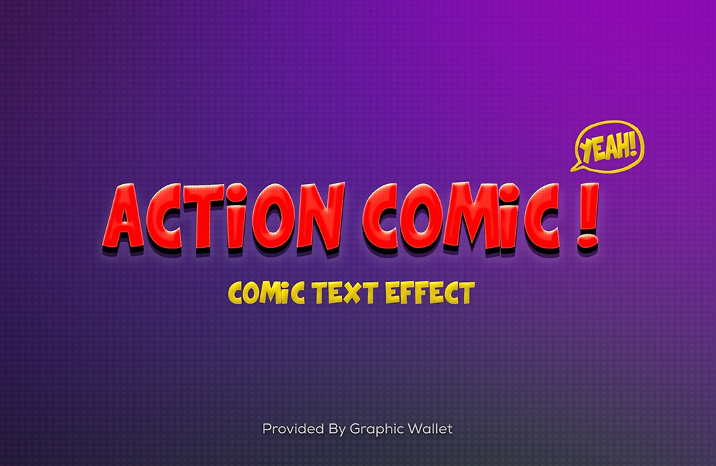 Action Comic PSD Text Effect