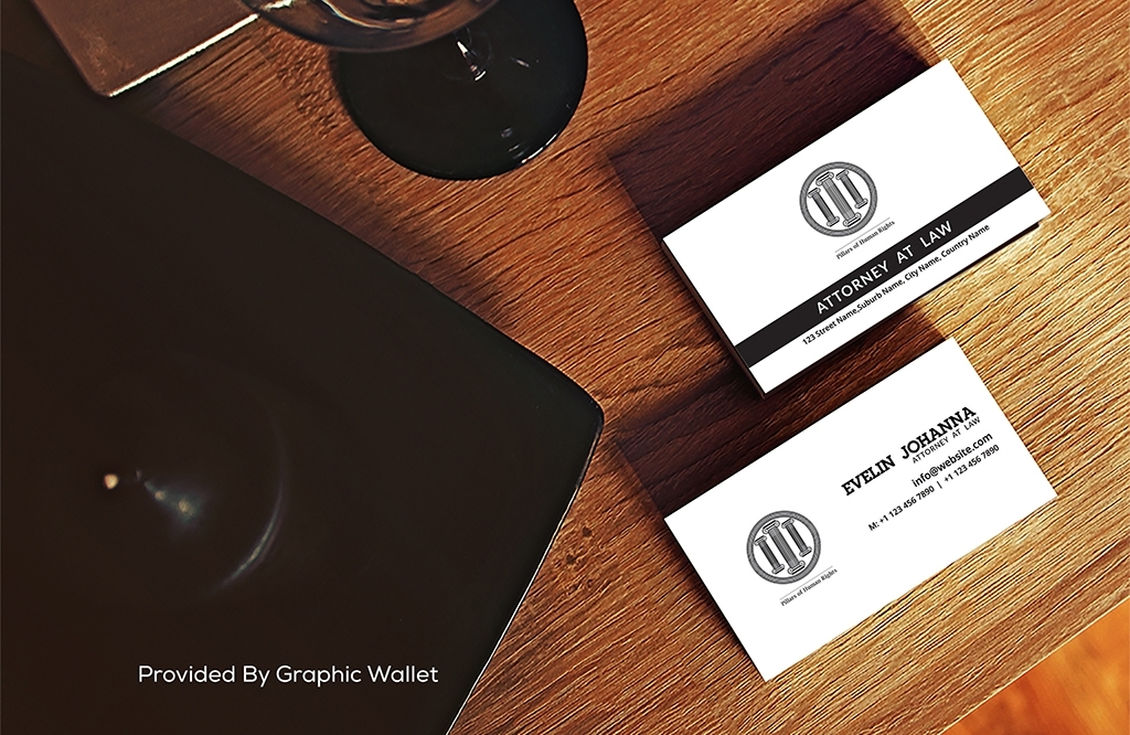 Free Wine Table Business Card Mockup PSD