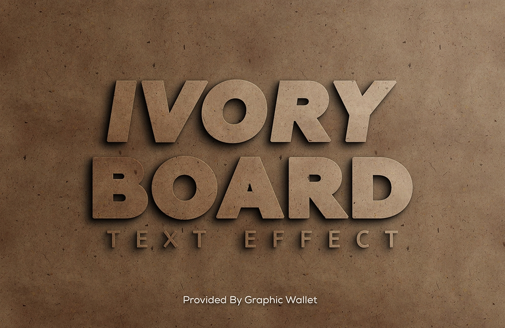 Ivory Board PSD Mockup Text Effect