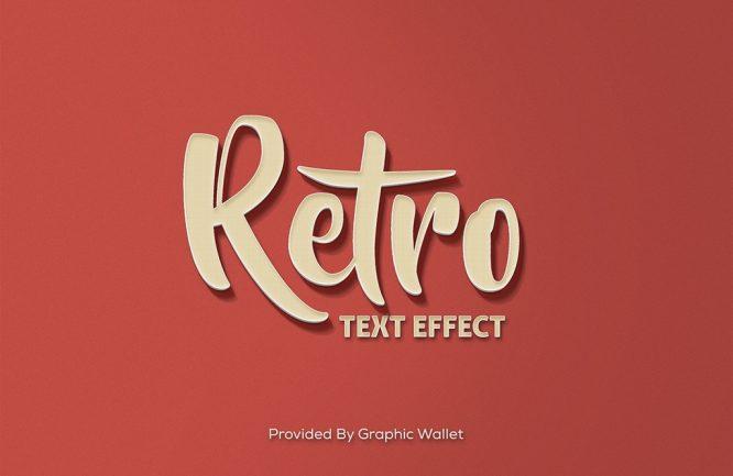 Retro PSD Mockup Text Effect_1