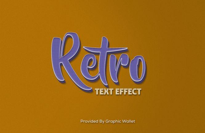 Retro PSD Mockup Text Effect_2