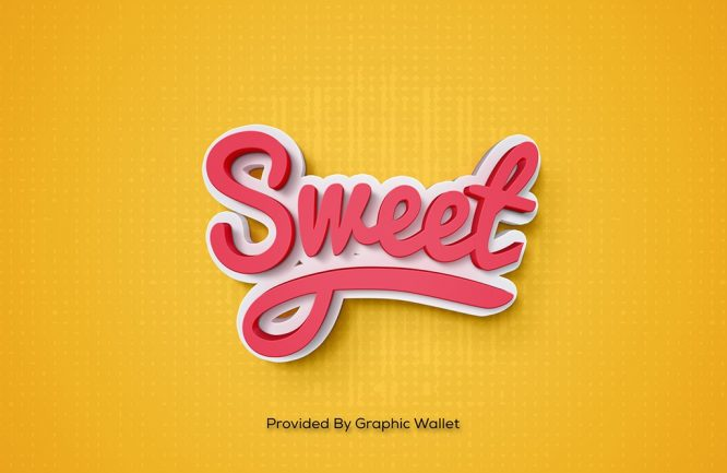 Sweet PSD Mockup Text Effect