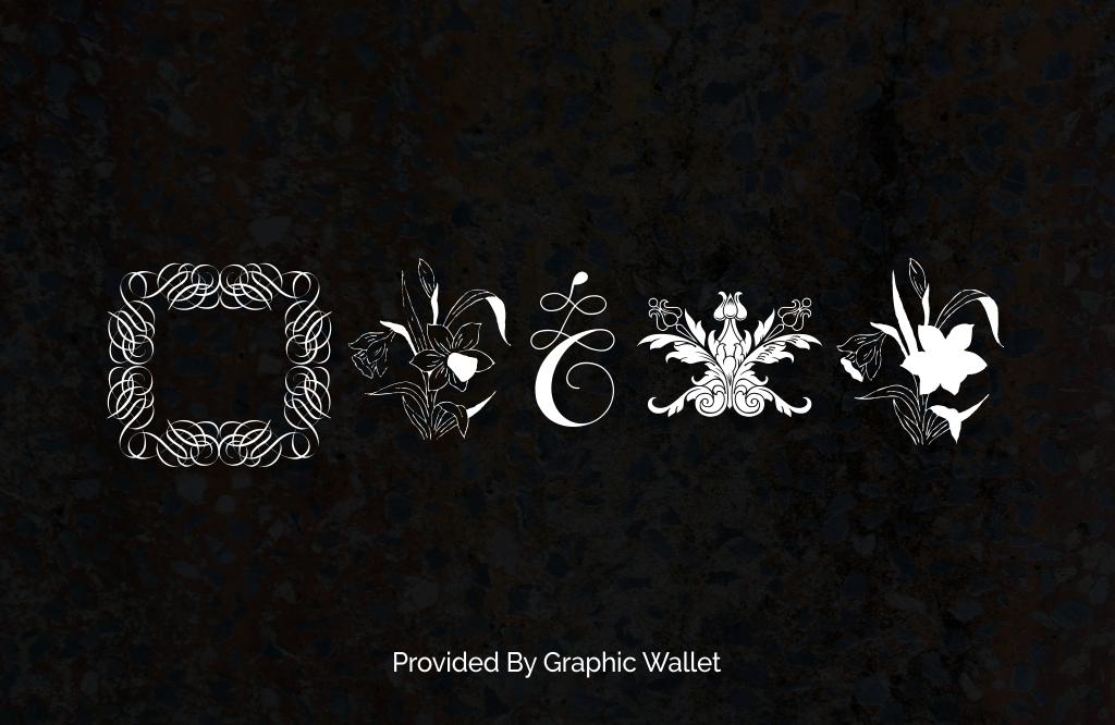 Cornucopia of Ornaments Font