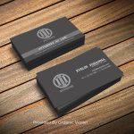Free Black Business Card Template & Mockup PSD