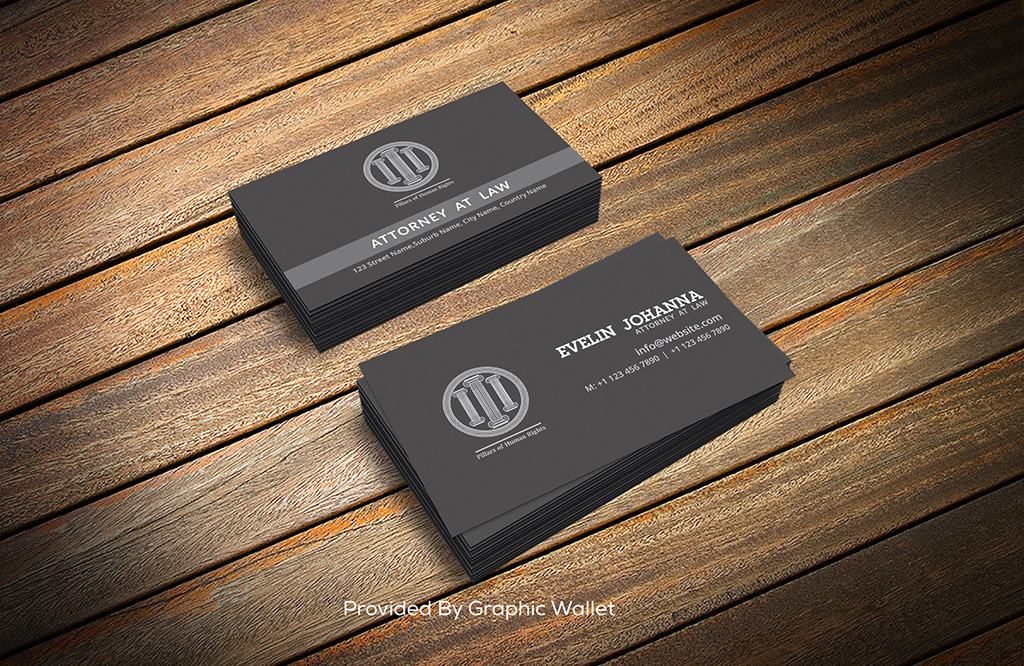 Free Black Business Card Template & Mockup PSD
