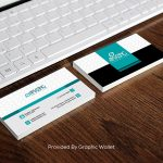 Free Business Card With iPad Mockup PSD