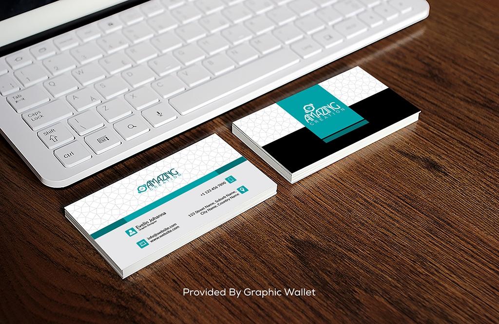 Free Business Card With iPad Mockup PSD