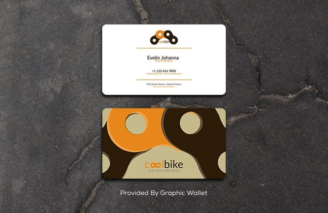 Free Square Round Corner Business Card Mockup