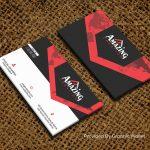 Jute Canvas Fabric PSD Business Card Mockup