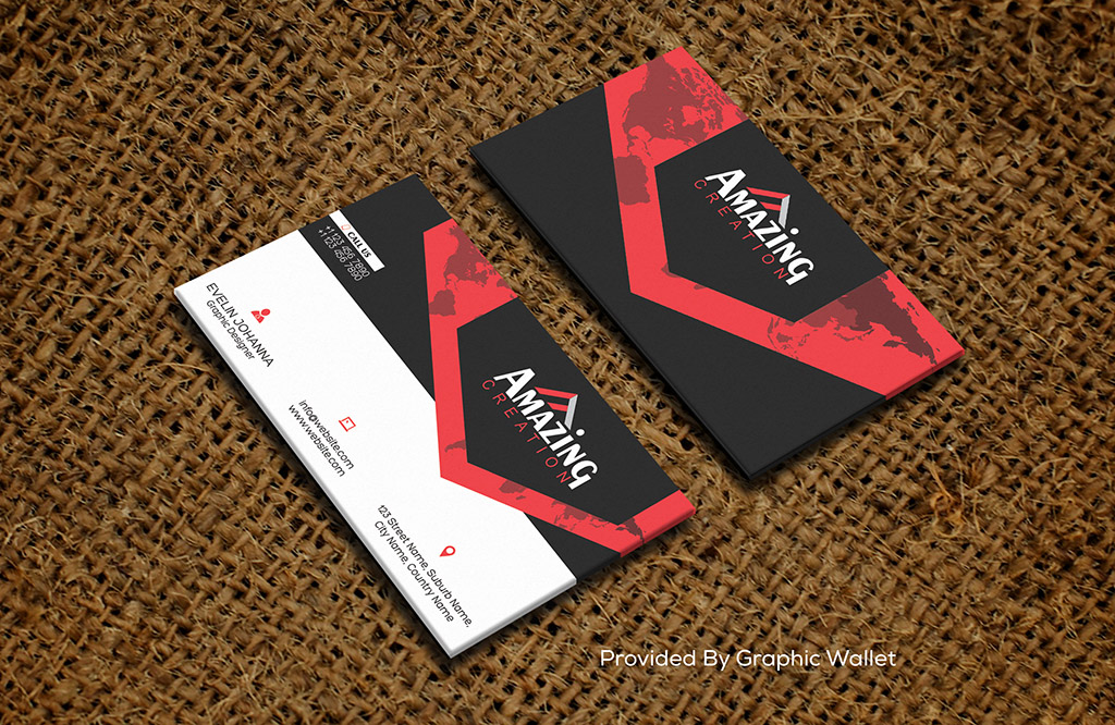 Jute Canvas Fabric PSD Business Card Mockup