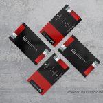 Real Quadruple Free PSD Business Card Mockup