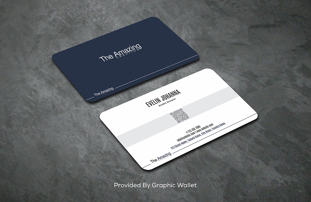 Rounded Corner Business Card Mockup PSD Free Download