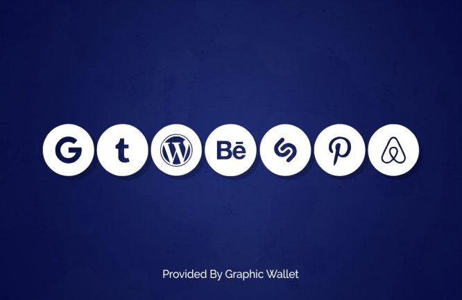 Social Media Circled Font