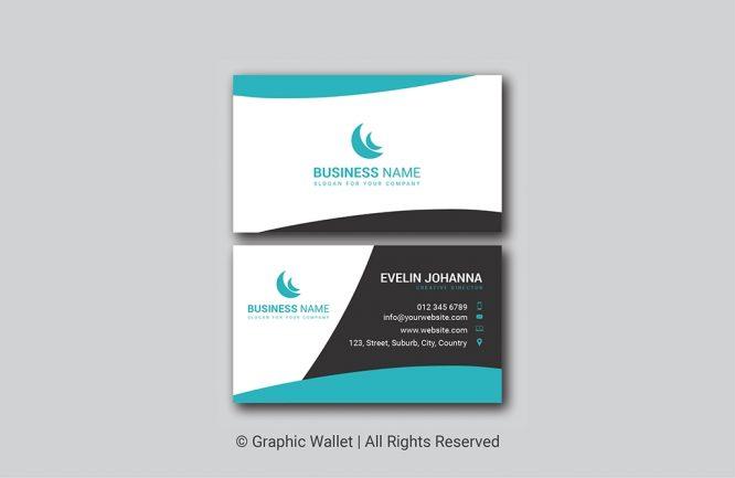 Turquoise Elegant Premium Business Card
