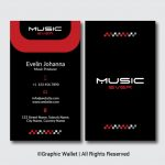 Music Ever Modern Premium Business Card