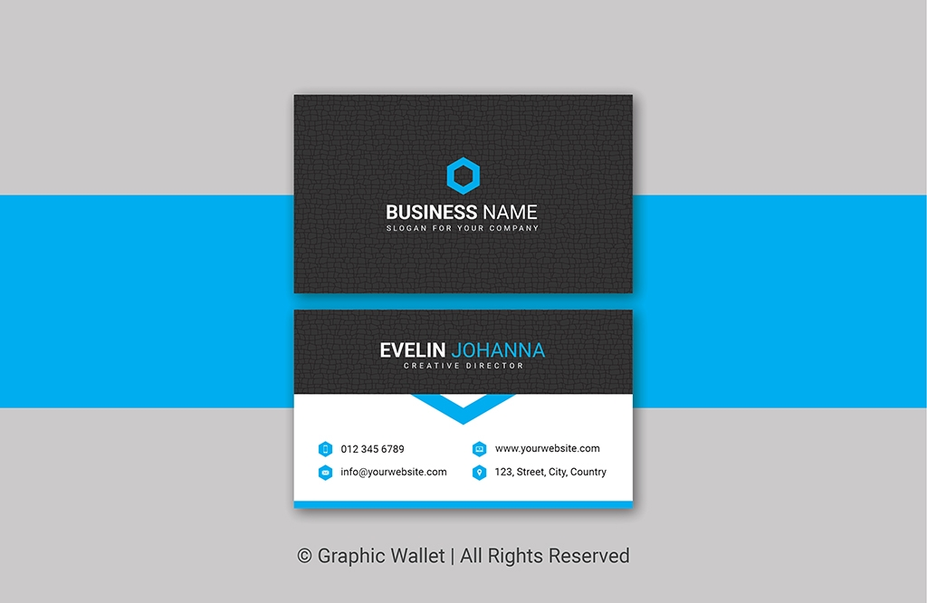 Creative Cracked Texture Premium Business Card – Blue