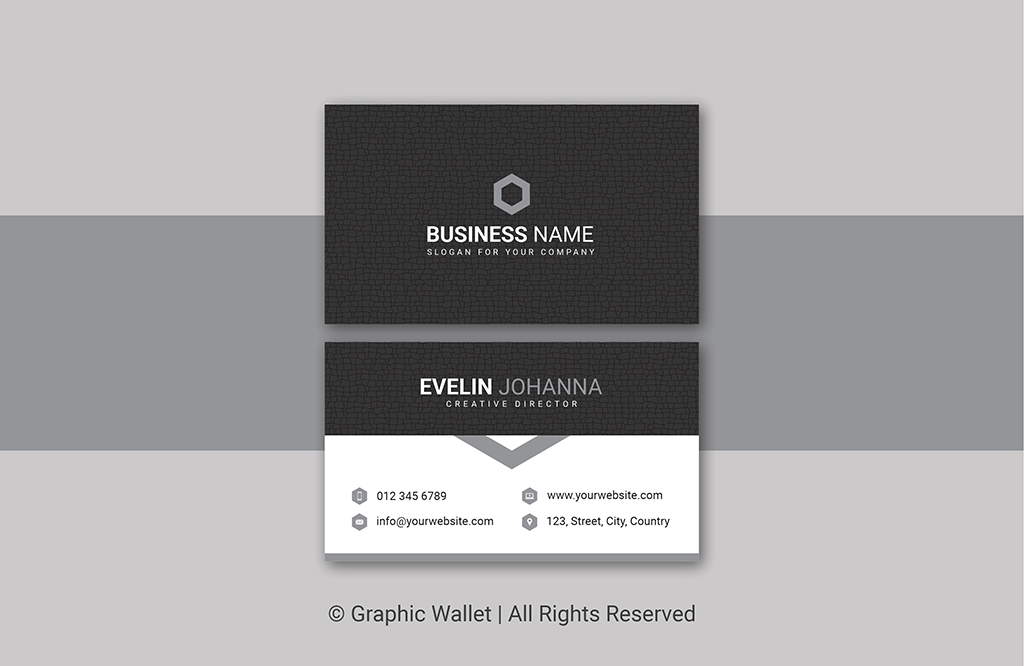 Creative Cracked Texture Premium Business Card – Gray