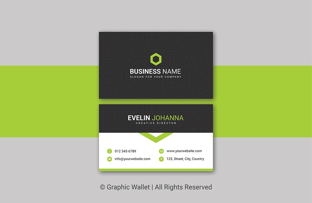 Creative Cracked Texture Premium Business Card – Green