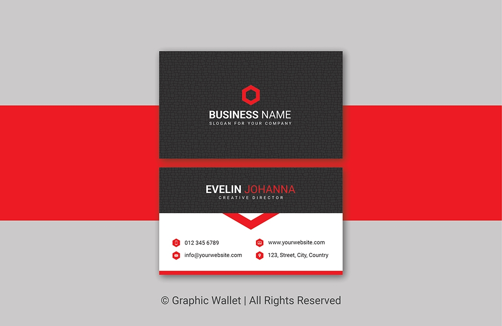 Creative Cracked Texture Premium Business Card – Red