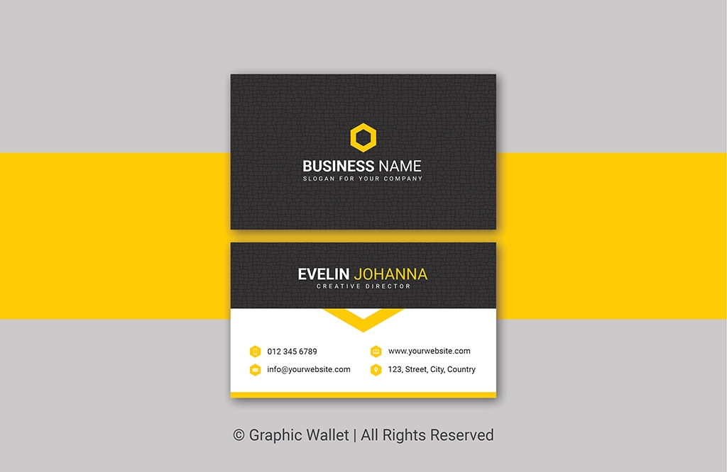 Creative Cracked Texture Premium Business Card – Yellow
