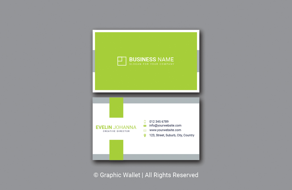 Modern Simple Premium Business Card – Green