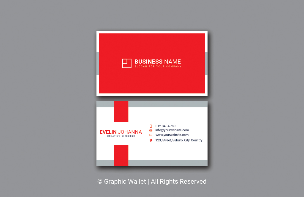 Modern Simple Premium Business Card – Red
