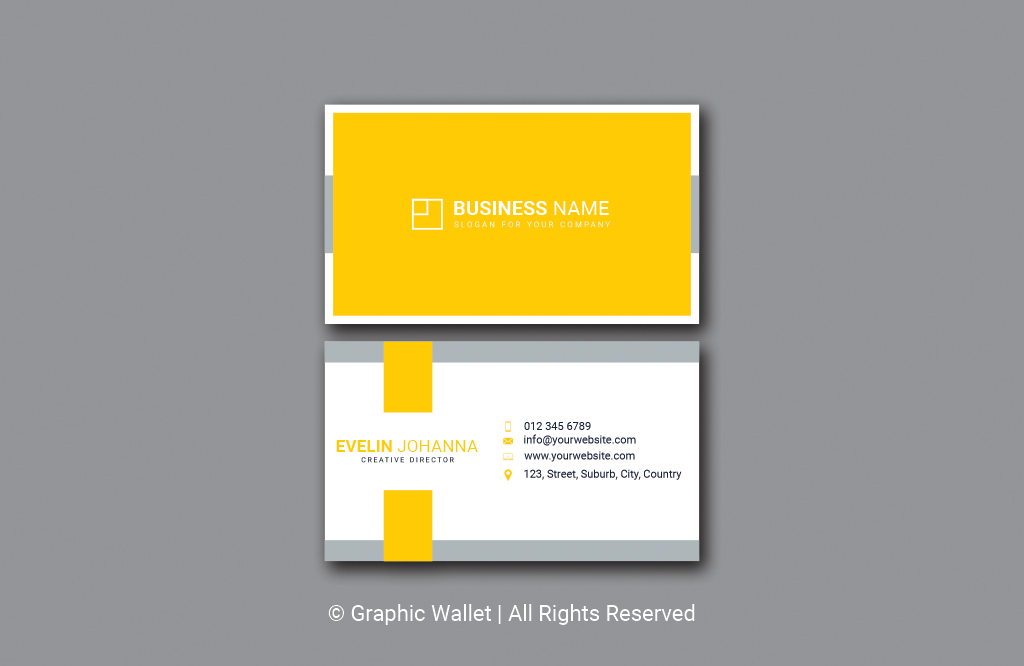 Modern Simple Premium Business Card – Yellow