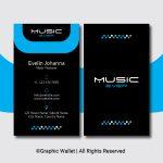 Music Ever Modern Premium Business Card – Blue