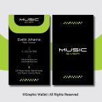 Music Ever Modern Premium Business Card – Green