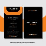 Music Ever Modern Premium Business Card – Orange