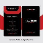 Music Ever Modern Premium Business Card – Red