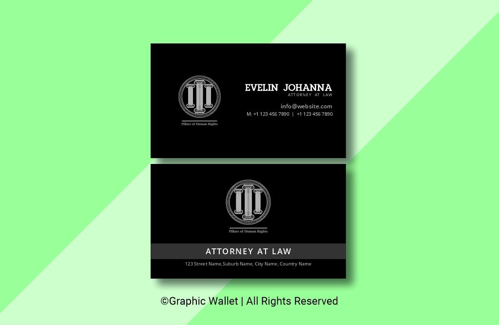 Attorney Black Premium Business Card