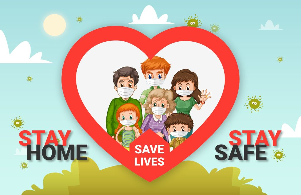 Stay Home Save Lives to Defeat Coronavirus (COVID-19)