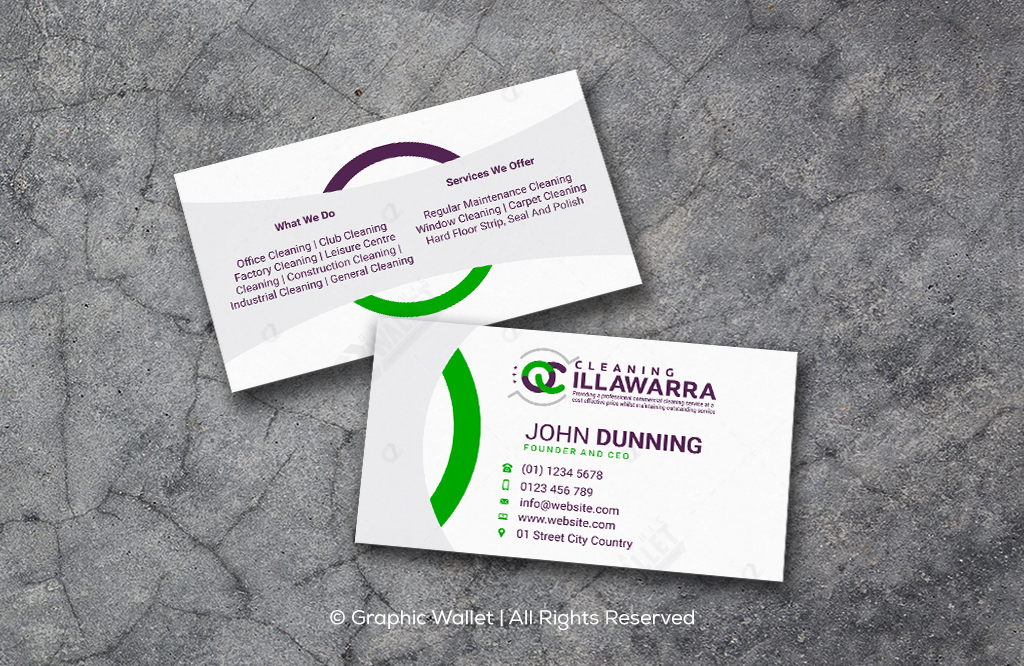 QC Cleaning Illawarra – Business Card