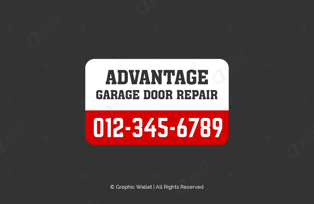 Advantage Garage Door – Sticker