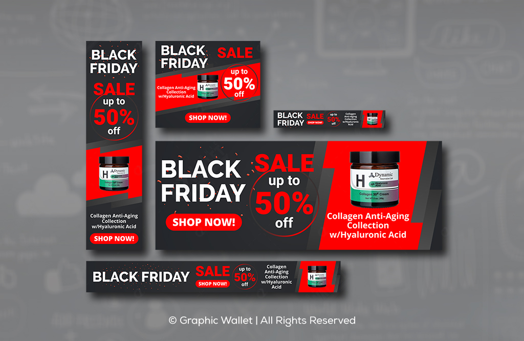 Collagen – Black Friday – Ads Banners #1